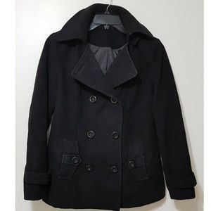 Black women's pea coat